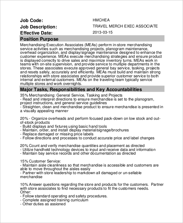 stock associate description - Teacheng.us