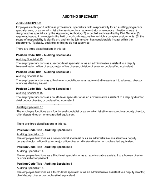 "a description of auditing To apply for this position, please email us quoting ""internal auditor"" in the subject line and attaching your cv and a covering letter to: careers@assalaenergycom location:london office, hammersmith / with frequent business trips to gabon type: fulltime role reporting line: board audit committee/cfo."