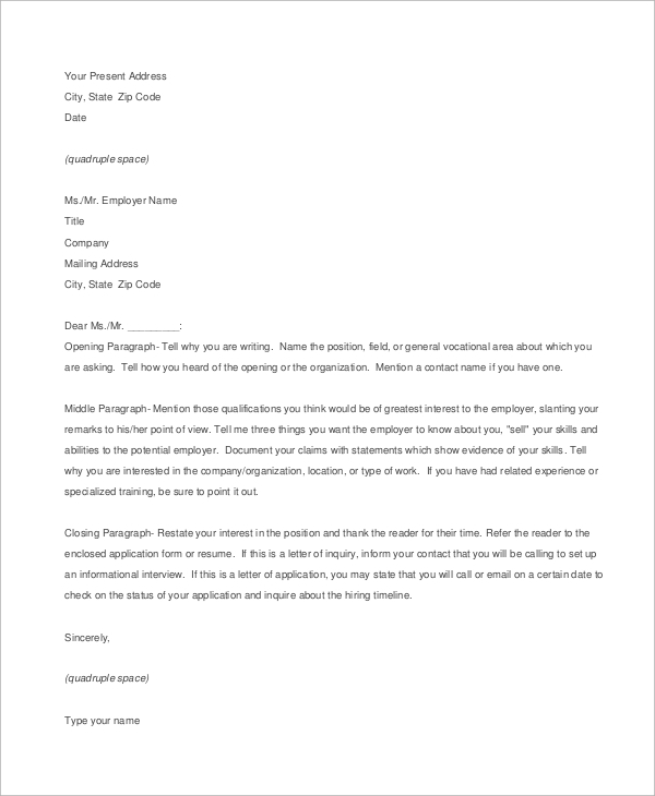 Three Paragraph Cover Letter from images.sampletemplates.com