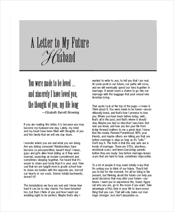 a letter to my fiance on our wedding day sample letters to my husband 7 examples in word pdf 29614 | Love Letter to Future Husband
