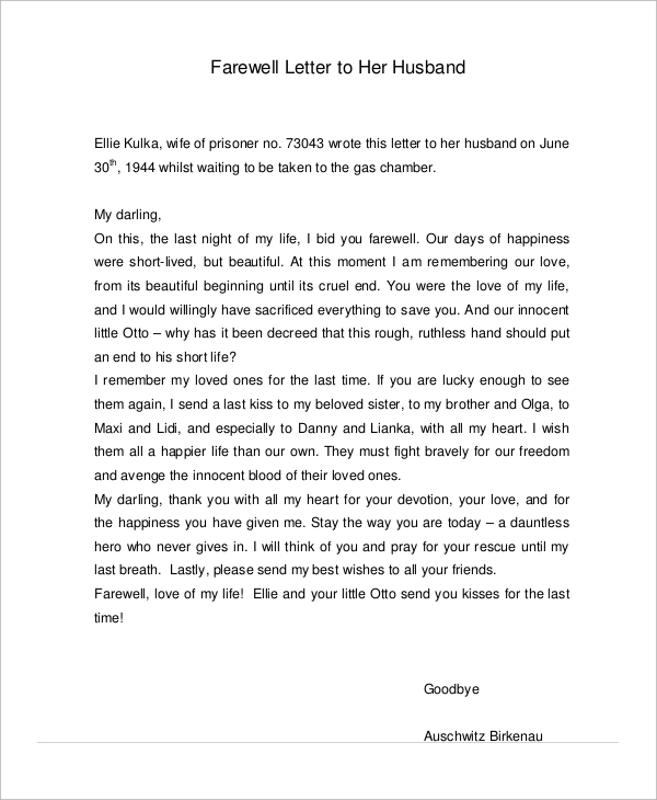 Sample Love Letters To My Husband - 7+ Examples In Word, Pdf