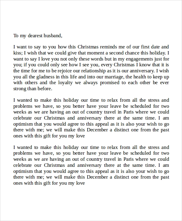 love letter to my husband on occassion