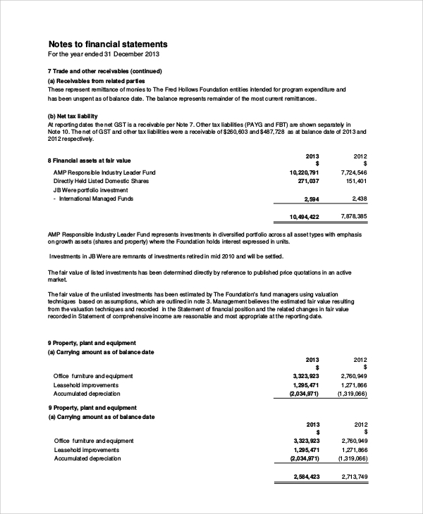 general purpose financial statement