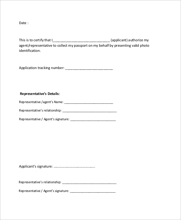 Sample authorization letter 10 examples in word pdf authorization letter to collect passport expocarfo