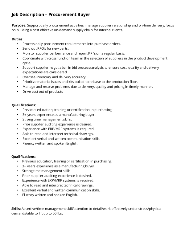 Supply Chain Management Job Description Top Supply Chain Resume
