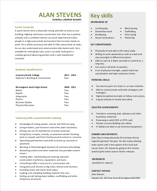 general resume objective sample 9 examples in pdf