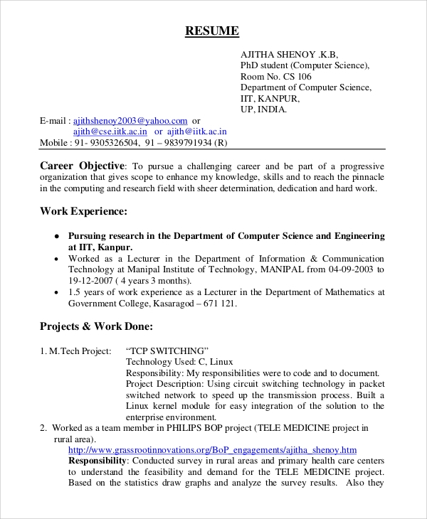 career objective for resume for software engineers 28 images