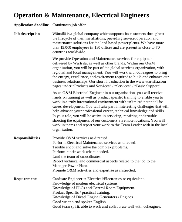 Exceptionnel Structural Engineer Job Description Samples
