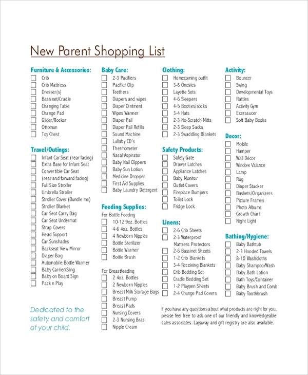 Sample Shopping List Sample Shopping List Printable Shopping List