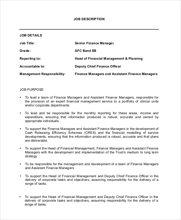 Manager Job Description Human Resources Manager Resume Job – Word Job Description Template