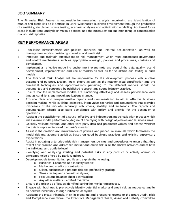 Risk management job description job description graduate - Insurance compliance officer job description ...