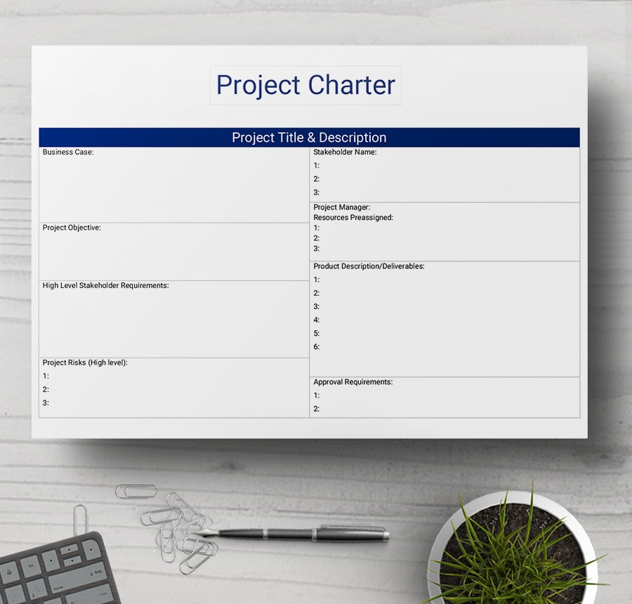 Project Charter Template For Building A House And