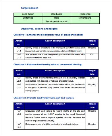 biodiversity action plan