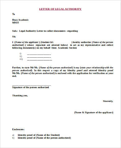 Sample Legal Letter Format   Examples In Word Pdf