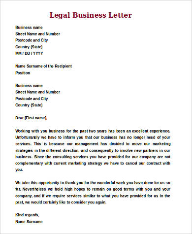 Marvelous Legal Business Letter Format