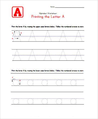 printable alphabet worksheet for preschoolers