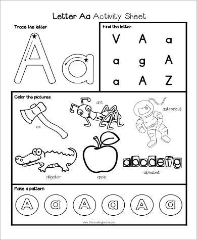 Sample Printable Preschool Worksheet - 9+ Examples in Word, PDF