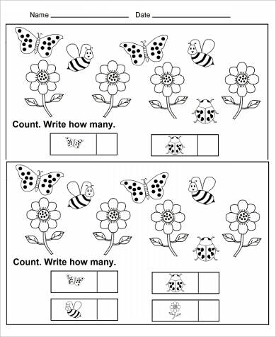 Sample Printable Preschool Worksheet   Examples In Word Pdf