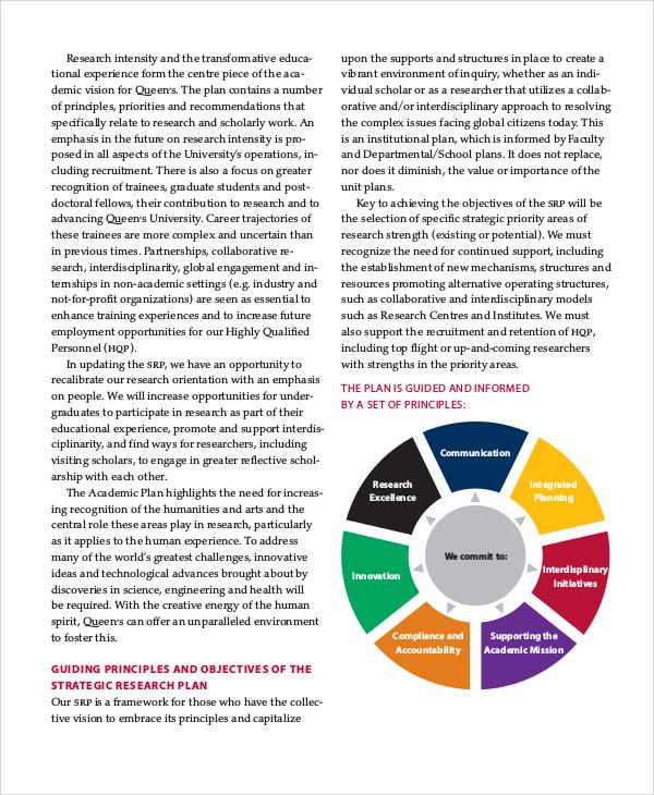 sample strategic research plan