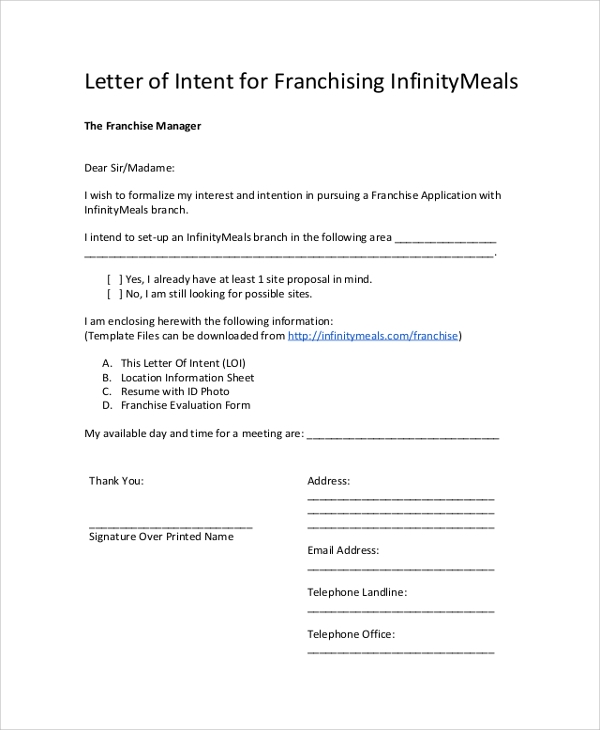 Letter Of Purchase Request. How To Write A Letter Of Intent