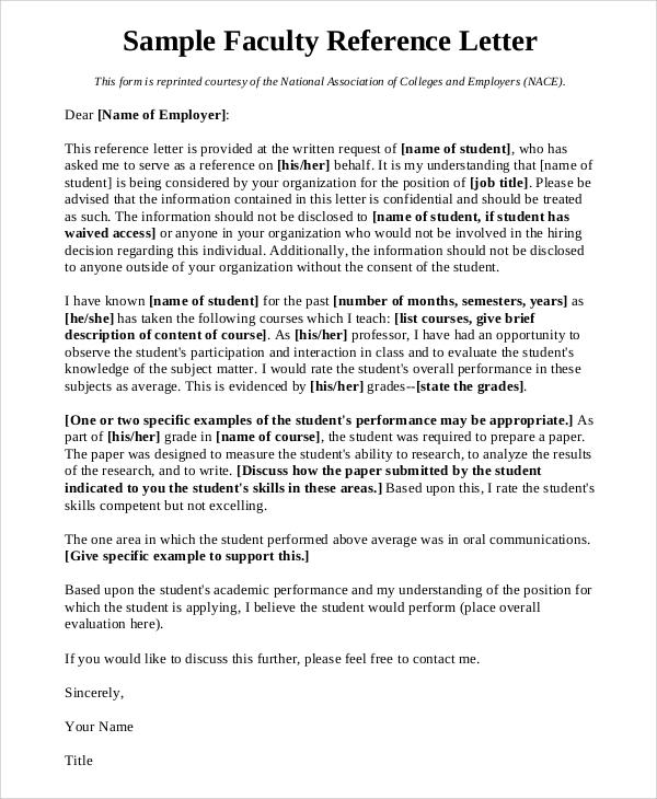 Sample Letter Of Recommendation For Professor Position from images.sampletemplates.com