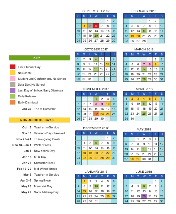 Sample Printable Calendar - 10+ Examples In Word, Excel, Pdf