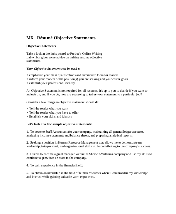 resumes objectives resume objective resume examples
