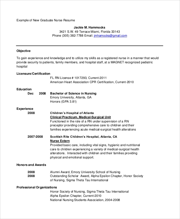 new nurse resume 9 sample objective statements for resume sample templates 23772 | New Graduate Nurse Resume Objective