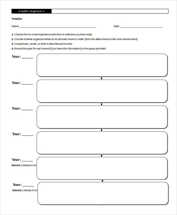 graphic organizer timeline word
