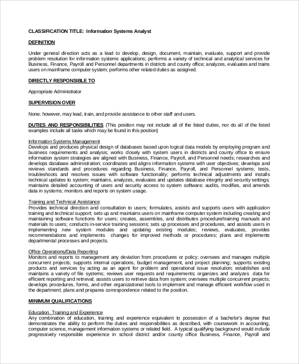 Data Analyst Job Description 2018 Job Descriptions - talart.ru