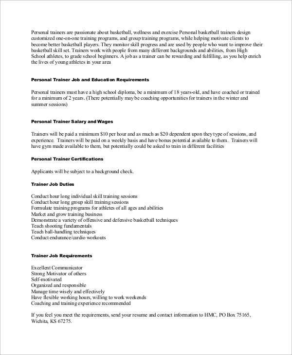 personal trainer resume sample sample personal trainer resume 9 examples in word pdf sample personal trainer