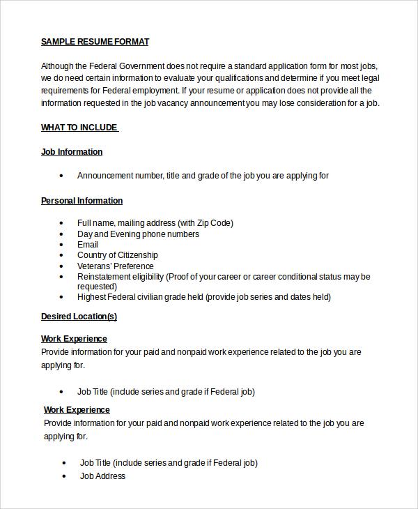Resume Sample In Word 10 Examples In Word