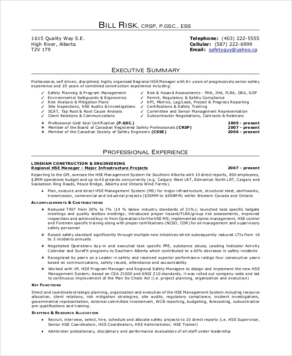Sample Curriculum Vitae   Examples In Pdf Word