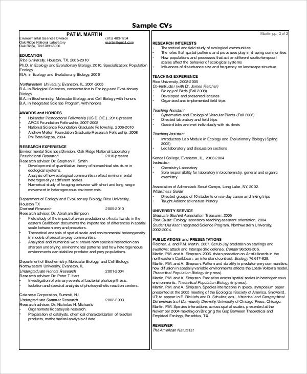 graduate school student resume