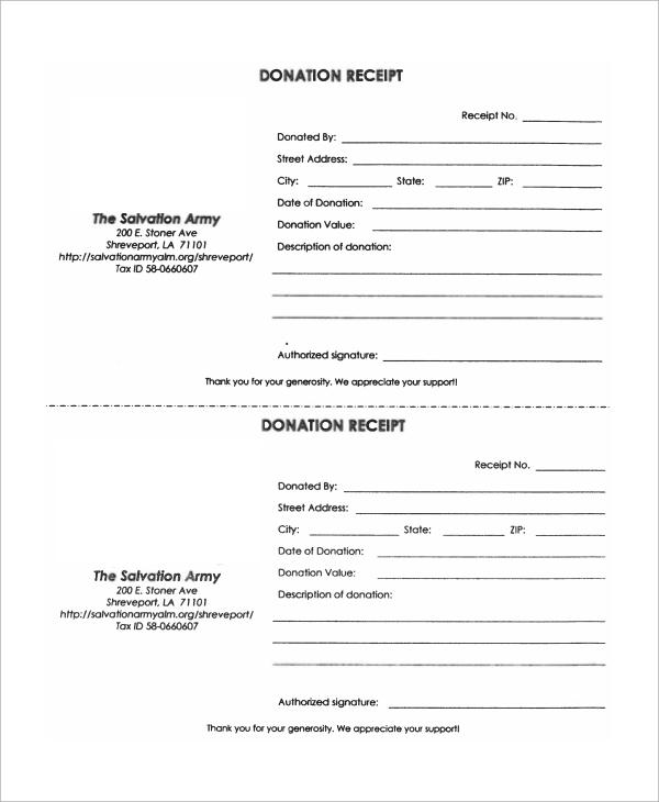 Donation Receipt Novaondafm
