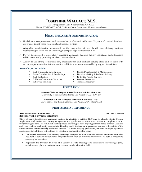 Career Objective For Healthcare Resume  BesikEightyCo