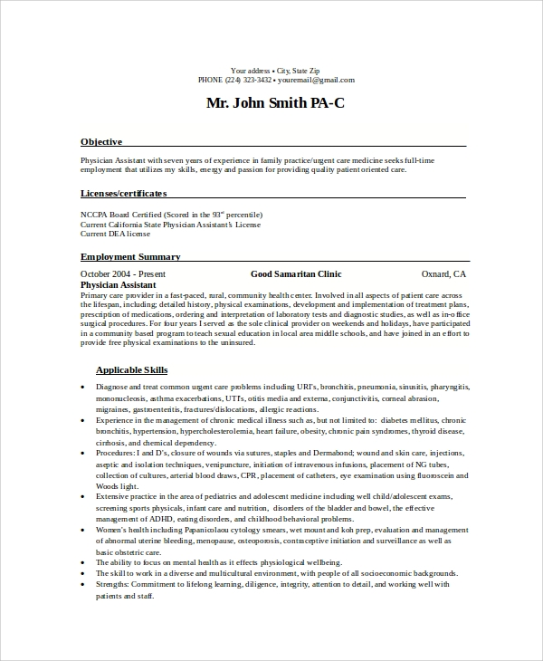 sle objectives for resume 8 exles in word pdf