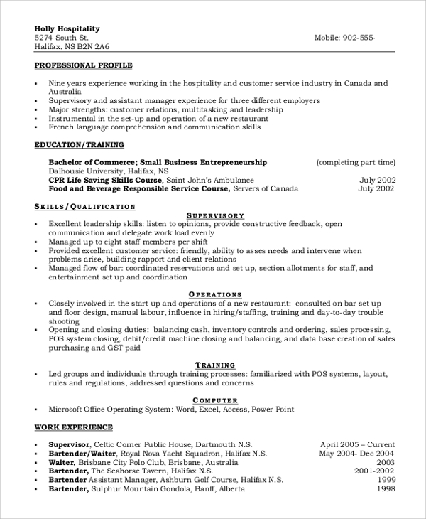 functional call center resume
