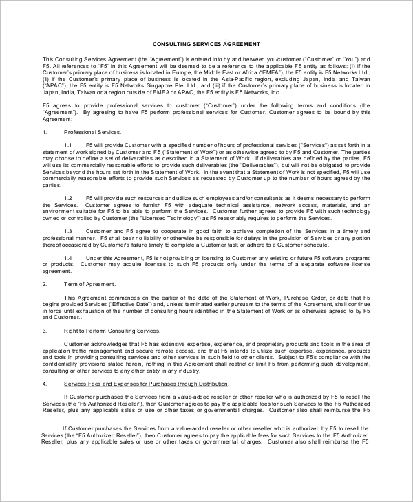 Sample Service Agreement   Examples In Word Pdf