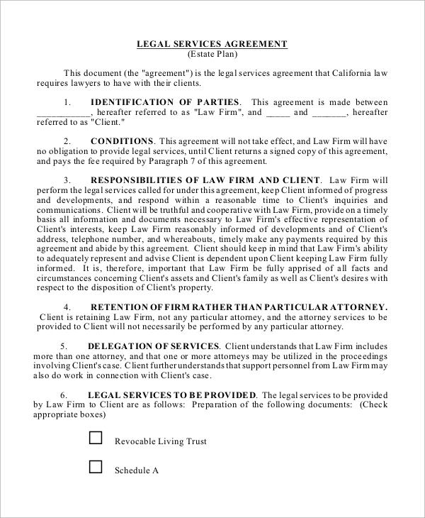 legal services agreement