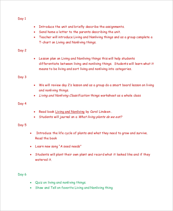 Sample Lesson Plans Format  BesikEightyCo