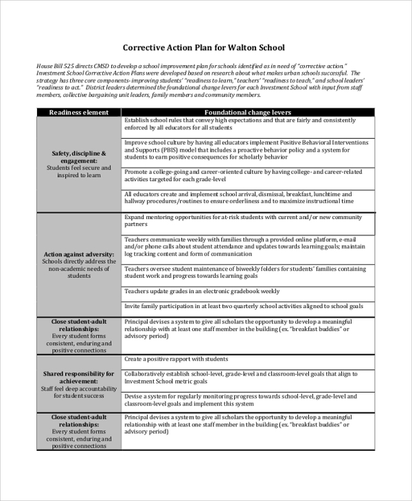 Sample Action Plans - 46+ Examples In Pdf, Word