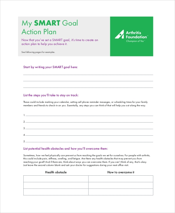 smart goal action plan