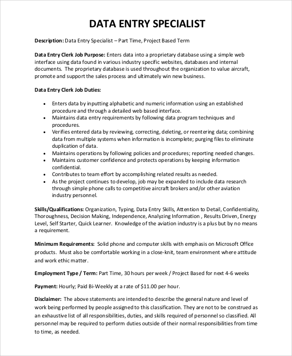 data-entry-specialist-job-description-for-resume