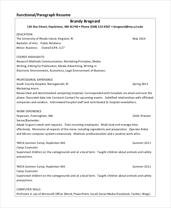 sample data entry resume