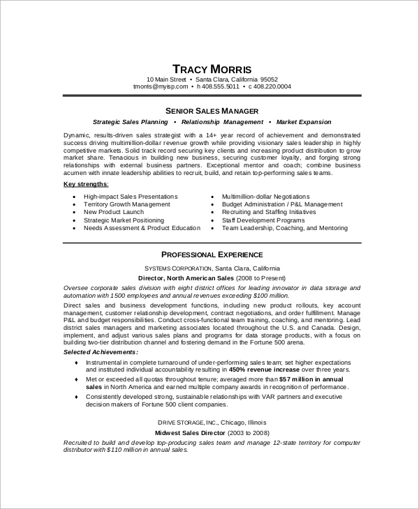 senior-sales-manager-resume