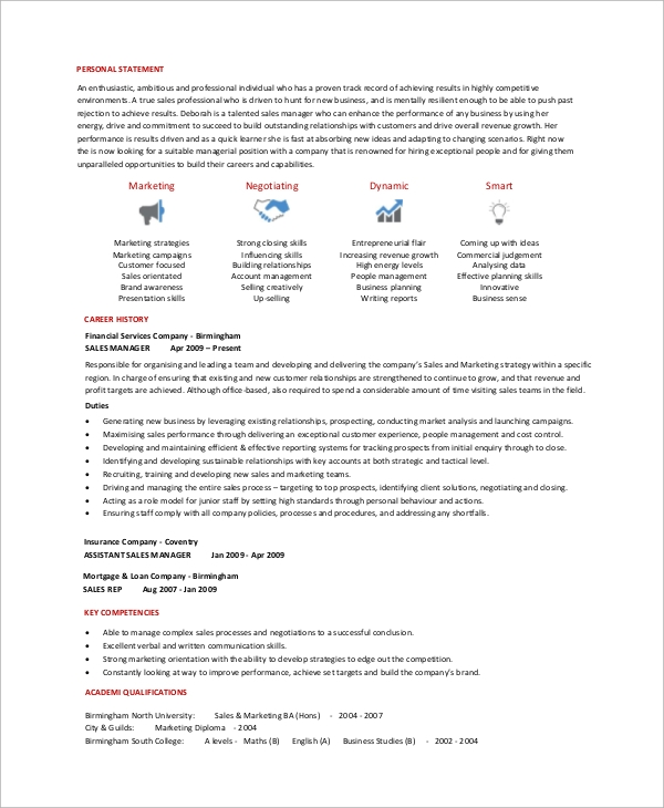 resume-format-for-insurance-sales-manager