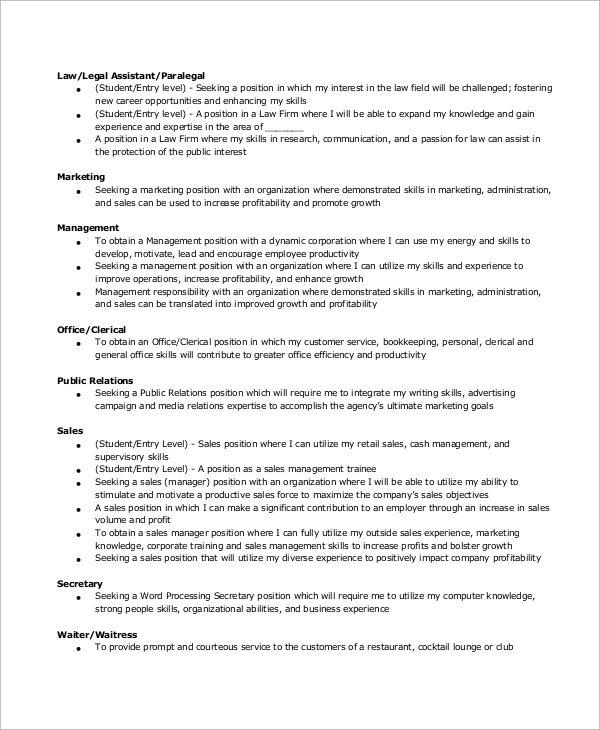 sales-manager-resume-objective