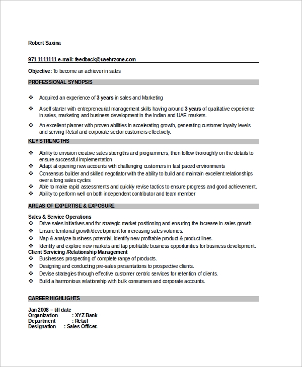 sales-executive-manager-resume