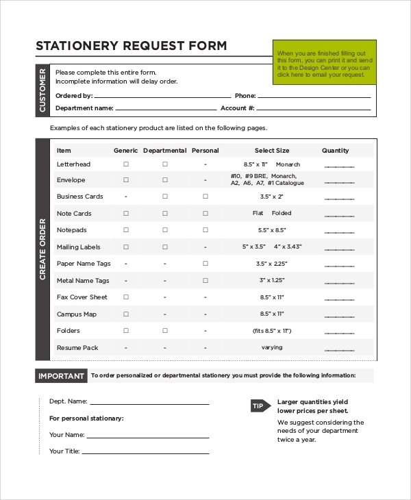 requisition form samples examples templates 10 examples in pdf